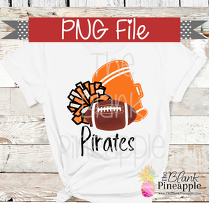 PNG - Football , Pom Pom, and Megaphone Orange & White