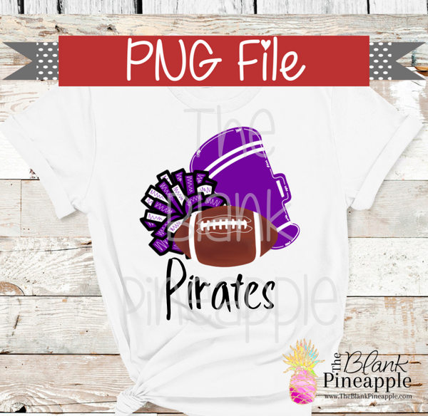 PNG - Football , Pom Pom, and Megaphone Purple and White