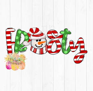 Christmas Frosty Snowman Sublimation Clipart