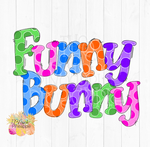 Easter Funny Bunny Sublimation Design PNG