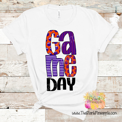 PNG -  Game Day Orange and Purple