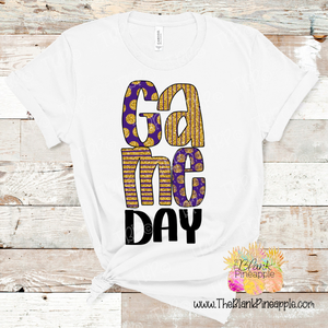 PNG -  Game Day Purple and Gold Glitter