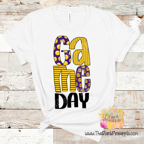 PNG -  Game Day Purple and Yellow