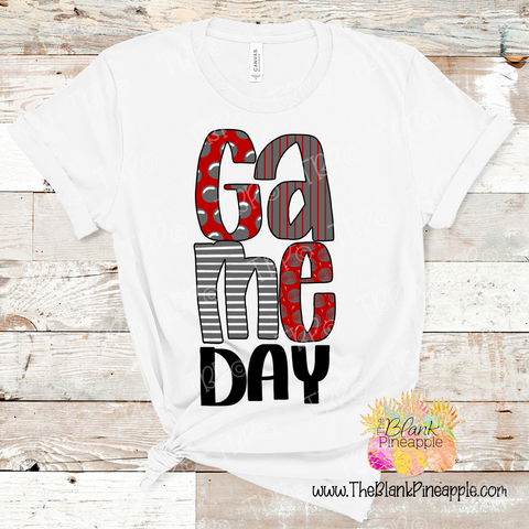 PNG -  Game Day Red and Grey