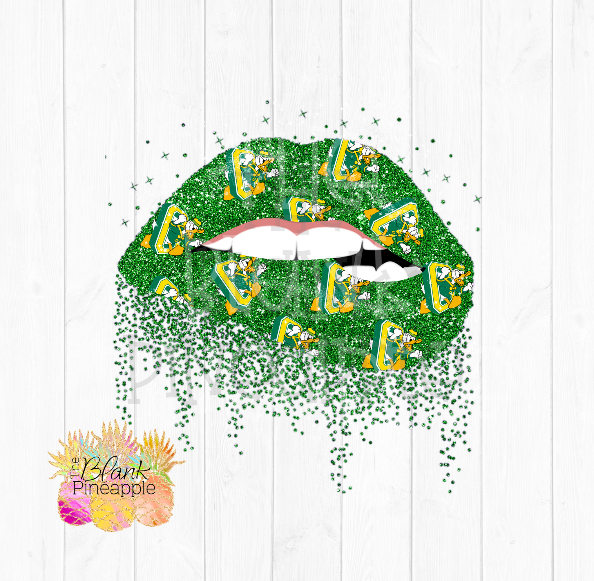 Glitter Biting Lips Oregon Ducks Logo Clipart