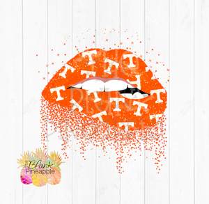 Glitter Biting Lips Tennessee Volunteers Logo Clipart