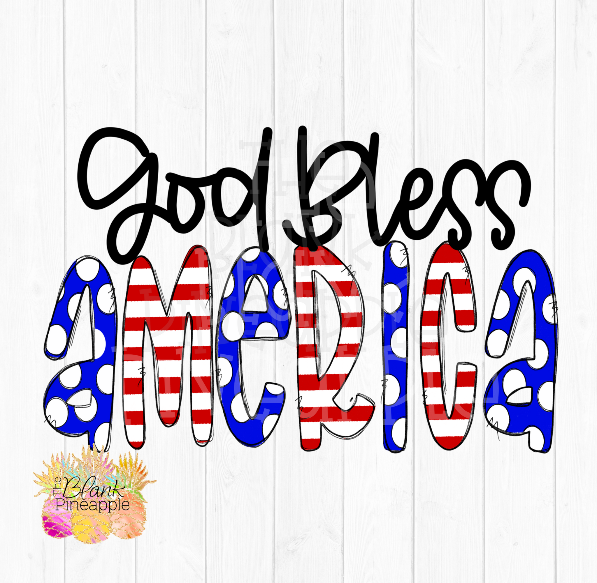 God Bless the America Sublimation PNG Design