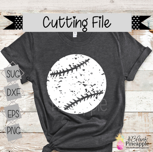 CUT FILE - Distressed Baseball