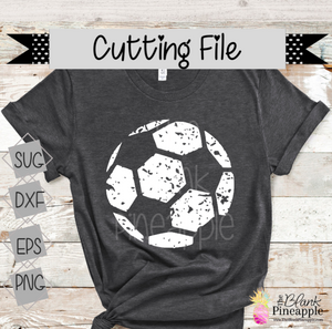CUT FILE - Distressed Soccer Ball