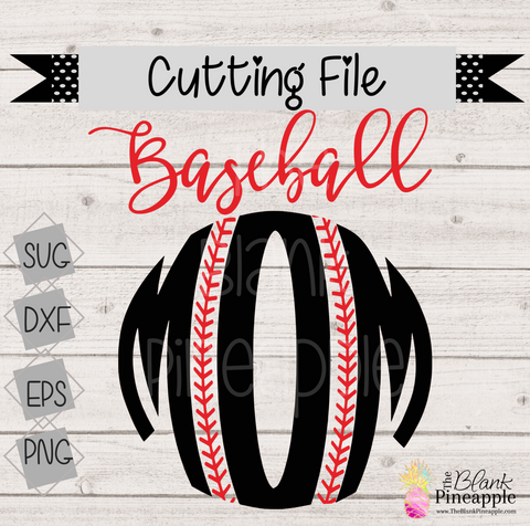 CUT FILE - Round Baseball Mom