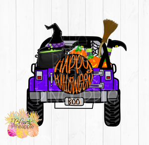 Halloween Jeep Sublimation Clipart PNG