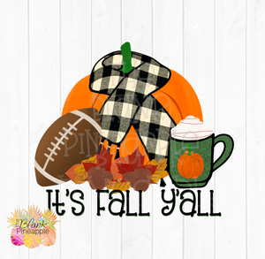 Fall Football Pumpkin Spice and Pumpkin Sublimation Design