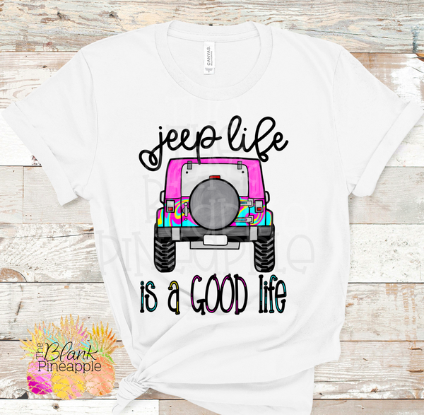 Jeep Sublimation Jeep Life is a Good Life Sublimation clipart