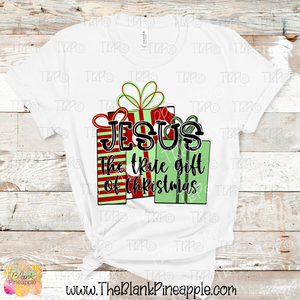 Jesus is the true gift of Christmas Sublimation Design PNG