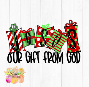 Christmas Jesus our gift from God Sublimation Clipart