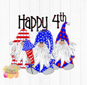 July 4th Gnome Sublimation PNG Design