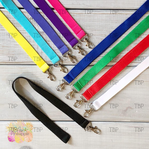 Blank Polyester Lanyards - CLEARANCE