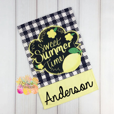 Lemon Sweet Summer Garden Flag