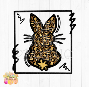 PNG - Leopard Bunny Sublimation Design and Clip Art