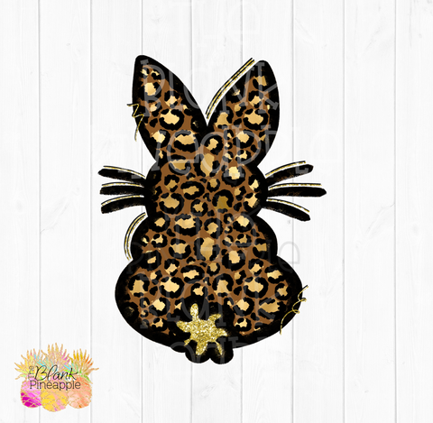 PNG - Leopard and Glitter Easter Bunny