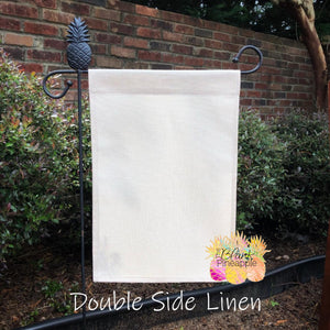 Faux Burlap Garden Flag - Double Sided