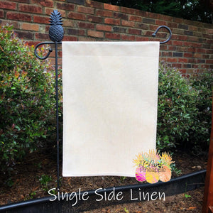 Faux Burlap Garden Flag - Single Sided