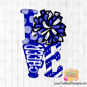 Love Cheer Sublimation Design PNG