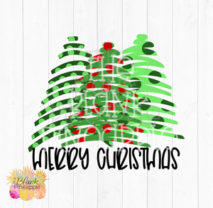 Christmas Trees Merry Christmas Sublimation Design PNG clipart