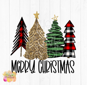 Whimsical Christmas Trees Sublimation clipart