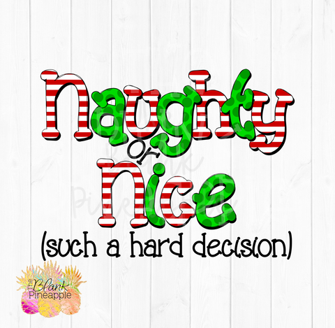 Naughty or Nice Sublimation Download clipart