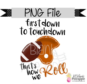 PNG - Football First Down to Touchdown Texas Orange/White