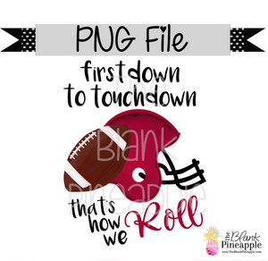 PNG - Football First Down to Touchdown Crimson/Black