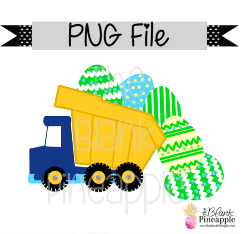 PNG - Easter Dump Truck with Easter Eggs