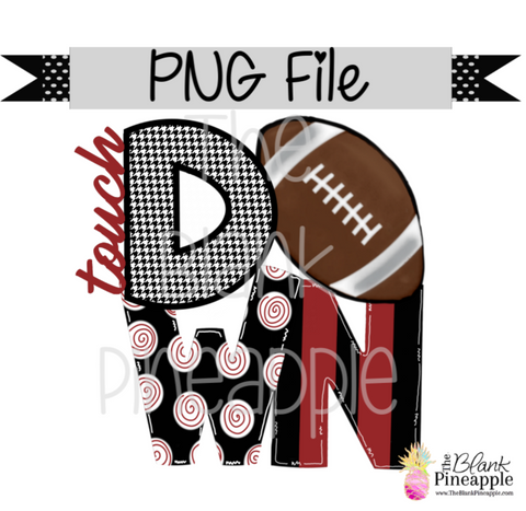 PNG - Football Touch Down Crimson/Houndstooth
