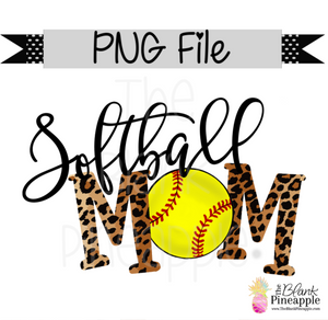 PNG - Softball Mom Leopard