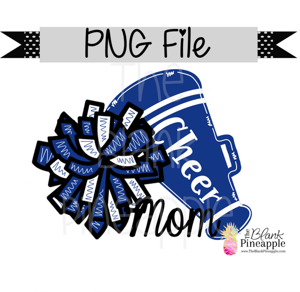 PNG - Cheer Mom Blue and White
