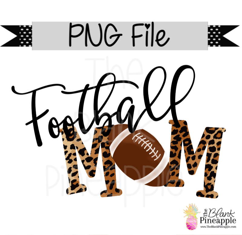PNG - Football Mom Leopard
