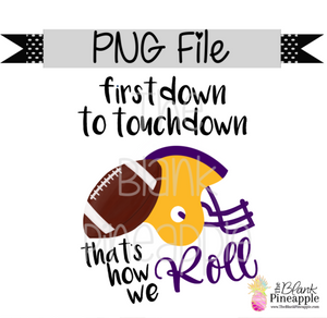PNG - Football First Down to Touchdown Gold/Purple