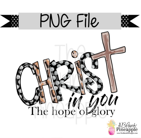 PNG - Christ in you, The hope of glory