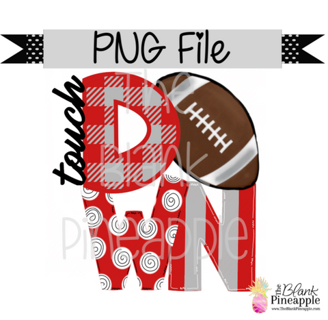 PNG - Football Touch Down Red/Grey
