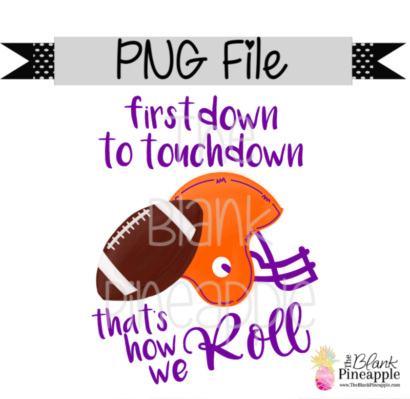 PNG - Football First Down to Touchdown Orange/Purple