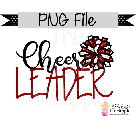 PNG - Cheerleader Maroon and White