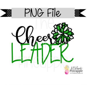 PNG - Cheerleader Green and White