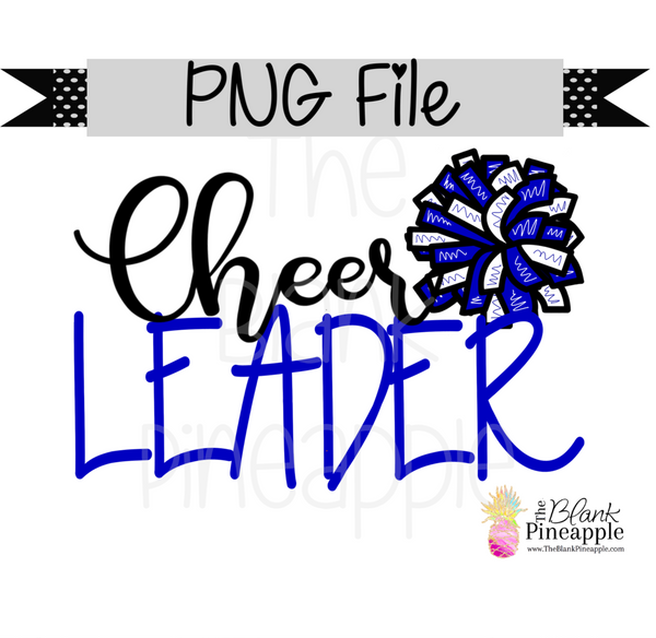 PNG - Cheerleader Blue and White