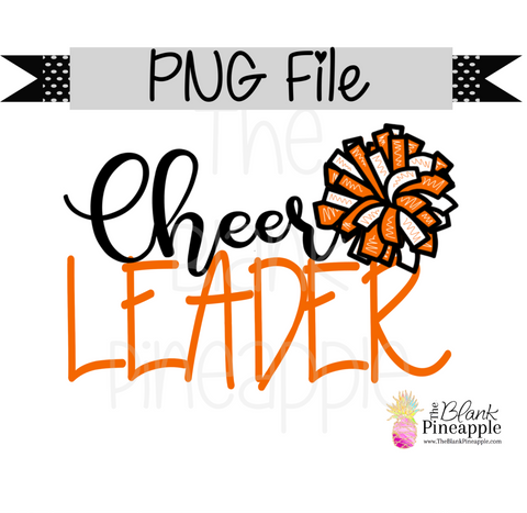 PNG - Cheerleader Orange and White