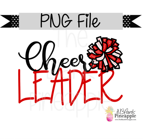 PNG - Cheerleader Red and White