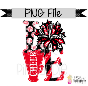 PNG - LOVE Cheer Red/Black/White