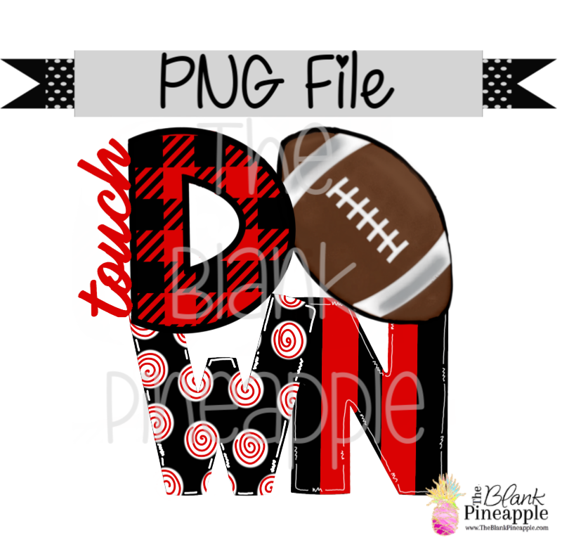 PNG - Football Touch Down Red/Black