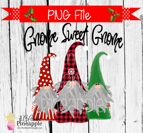 Christmas Gnome Sublimation PNG 300dpi