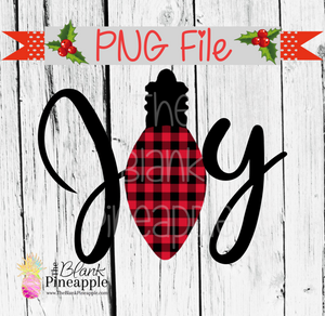 Christmas Buffalo Plaid Joy Sublimation PNG 300dpi